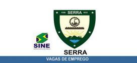 Vagas de emprego são abertas em Serra – ES