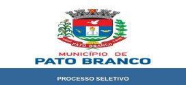 A Prefeitura de Pato Branco – PR abre inscrições para Processo Seletivo