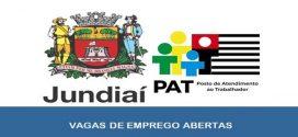 Vagas de emprego abertas pelo PAT em Jundiaí – SP