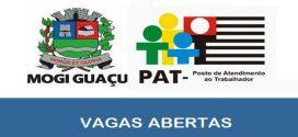 Vagas de emprego abertas no PAT Mogi Guaçu