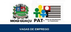 Vagas de emprego abertas pelo PAT Mogi Guaçu