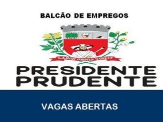O Balcão de Emprego abre novas vagas de emprego em Presidente Prudente