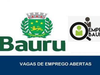 Vagas de emprego abertas em Bauru
