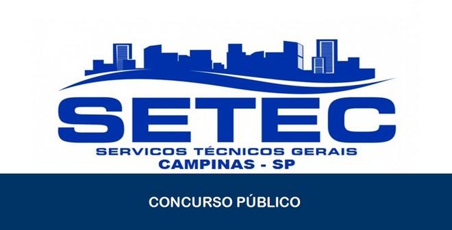 SETEC abre inscrições para Concurso Público em Campinas