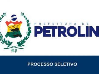 Estão abertas as inscrições para o Processo Seletivo da Prefeitura de Petrolina – PE