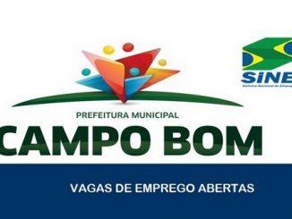 Vagas de emprego são abertas pelo SINE em Campo Bom