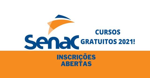 Cursos gratuitos do SENAC: inscrições abertas para mais de 2.500 vagas!