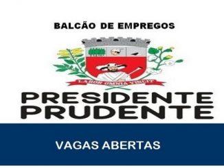 Vagas de emprego abertas Presidente Prudente