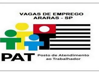Vagas de emprego são abertas pelo PAT Araras