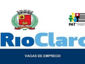 Vagas de emprego são abertas pelo PAT em diversas áreas em Rio Claro – SP