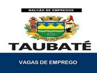 Vagas de emprego abertas em Taubaté