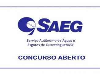 Concurso é aberto pela SAEG Guaratinguetá – SP: Inscrições abertas para 33 vagas imediatas!